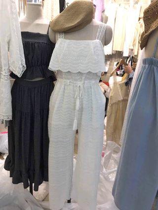 ❤️Make in korea 通花款吊帶jumpsuit ✨