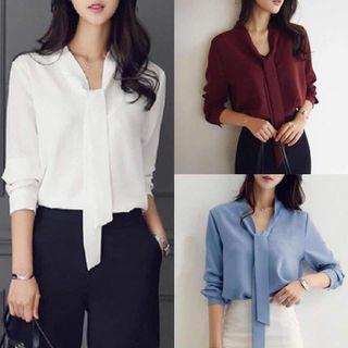 Chiffon Shirt - light blue