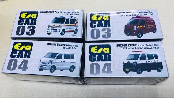 ERA - Suzuki Every /警車/救護車/消防車/日本警車