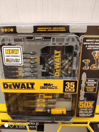 DEWALT MAX Impact Set (35-Piece)原封包裝美國空運到港現貨,荃灣門巿自提,mtr交收