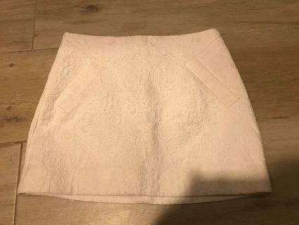 Topshop white skirt with pockets