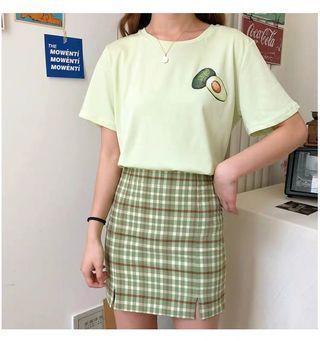 Avocado t shirt / skirt