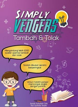 Simply Vengers Tambah san Tolak Buku Matamatik Pra Sekolah