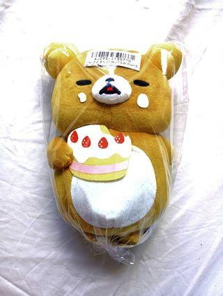 Authentic Chubby Cake Rilakkuma Soft Toy Plushie