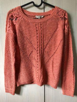 Knitted Salmon top #MGAG101 #JuneToGo