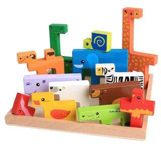 Wooden animal puzzle board 289