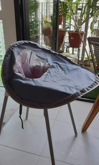 Baby high chair waterproof cover