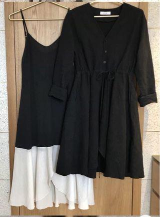套裙 連身裙 百搭 時尚 黑色 dress