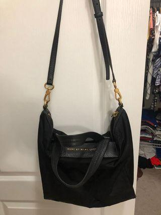 Marc Jacobs nylon/ leather trim bag
