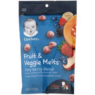 Gerber, Fruit & Veggie Melts, Very Berry Blend, Crawler 8+ Months, 28 g