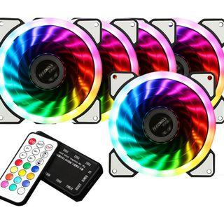 5x RGB fan with Remote and Hub