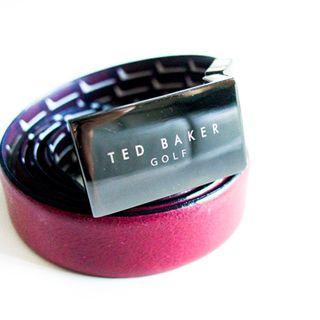 Ted Baker Golf red leather belt