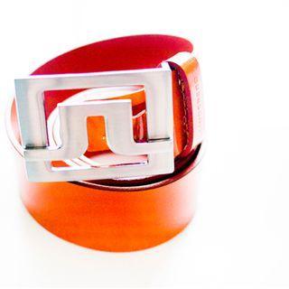 J Lindeberg orange leather belt