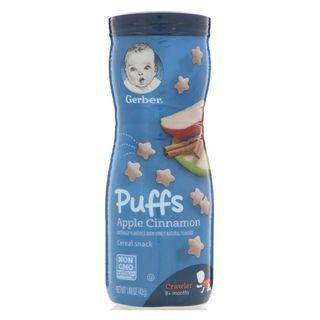 Gerber, Puffs, Cereal Snack, Crawler, 8+ Months, Blueberry, 42 g