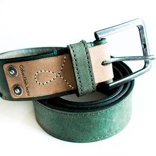 Calvin Klein green leather belt
