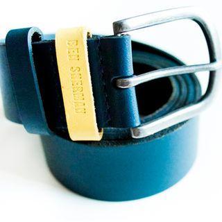 Ben Sherman blue leather belt