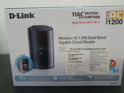 🚚 D-Link Router AC1200 DUAL Band