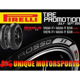 Pirelli Rosso 2 tyres at $228