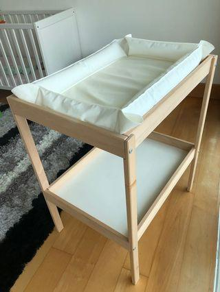IKEA changing table with babycare mat