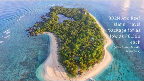 3D2N Apo Reef Island Travel package for as low as P6,390 each (via Metro Manila)