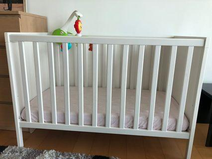 Ikea Baby Cot Sundvik with mattress