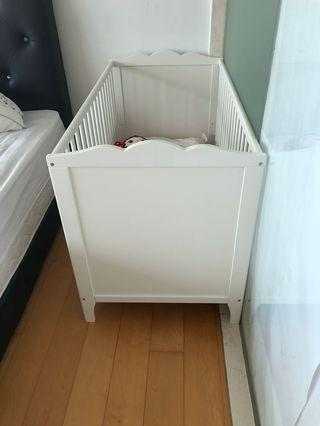 Ikea baby cot with mattresses