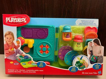 Playskool- pretend n go kitchen set