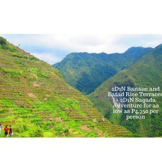 2D1N Banaue and Batad Rice Terraces + 2D1N Sagada Adventure Travel Package for as low as P4,750 per person