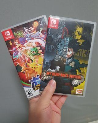 Nintendo Switch ▪ My Hero One's Justice ▪ Pokkén Tournament DX