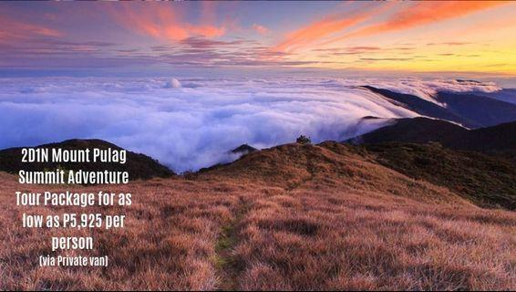 2D1N Mount Pulag Summit Adventure Tour Package for as low as P5,925 per person (via Private van)