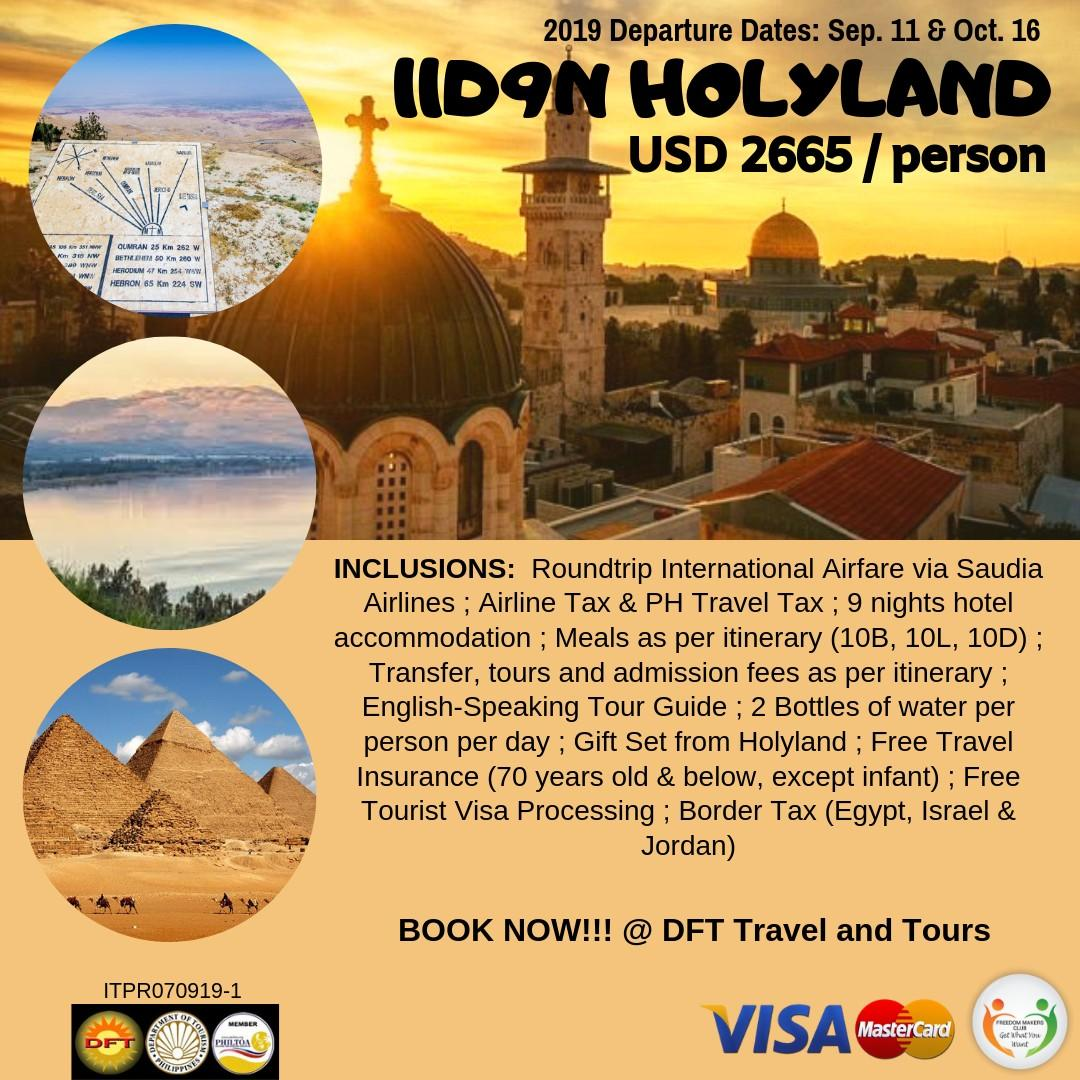 11D9N Holyland Tour Package