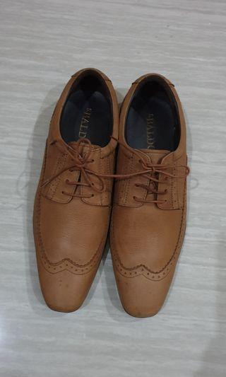 S. Baldo Genuine Leather Brown Lace-Up Men Classic Footware