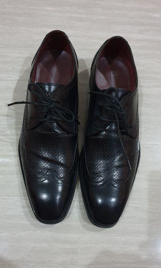 Obermain Germany Leather Black Lace-Up Men Classic Footware