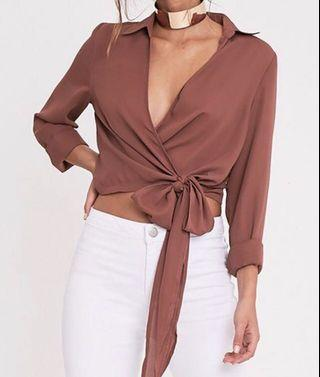 Pretty Little Thing Rose Wrap Top