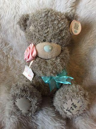 Me To You Tatty Teddy Blue Nose Bear with Pink Rose