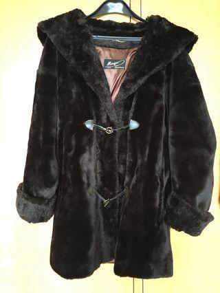 法國製造女裝毛毛大褸 chest around 130cm 可束腰