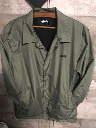 stussy coach jacket military  green