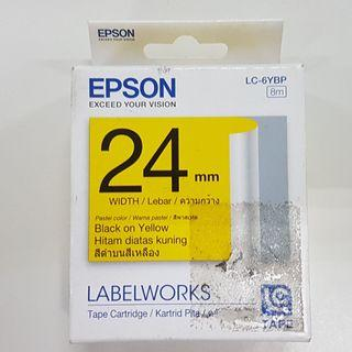 [CLEARANCE] EPSON C53S627609 LC-6YBP 24MM BLACK ON YELLOW TAPE