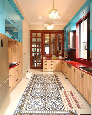 (s35) Wet kitchen design cabinet with local carpenter