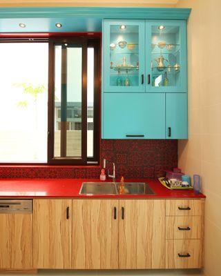(s36) Wet kitchen design cabinet with local carpenter