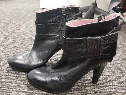 Valentino Red black short boots