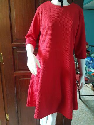Mididress red ESPRISE #maugopay