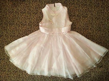 #maugopay Gaun Soft Pink Anak Perempuan