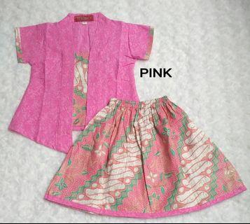 1 Set New Pink Kebaya Batik For Kids