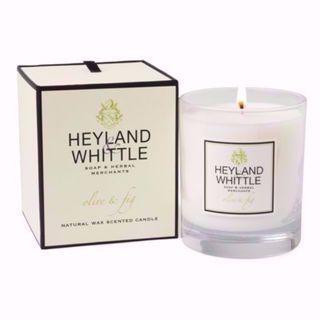 包順豐郵費 全新 英國手造 Heyland & Whittle Olive & Fig Soy Wax Candle 橄欖無花果大豆蠟香薰蠟燭 (店主強推!)