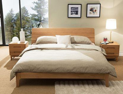Minimalist Scandinavian Solid Wood Queen Bed Frame