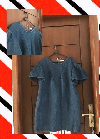 jeans top / minidress