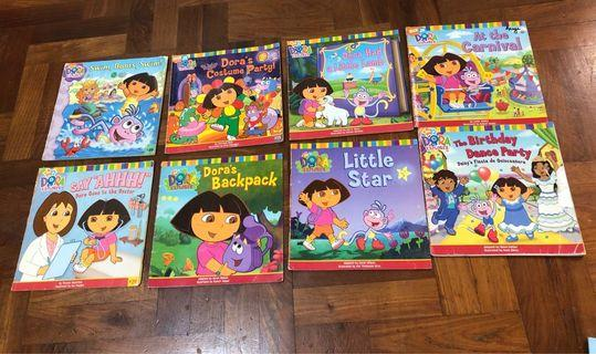 Dora Books -8 books +1 big free puzzle book