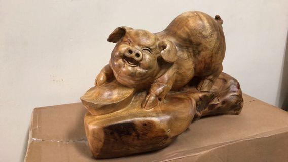 🚚 香樟豬擺件未上漆有香味!