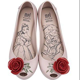 🚚 BN Melissa Mel Ultragirl + Beauty and the beast US 3 in stock
